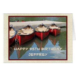 95.a tarjeta de felicitación feliz del cumpleaños,