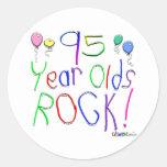 ¡95 años de la roca! etiquetas redondas