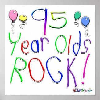 ¡95 años de la roca posters