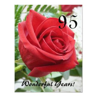 """¡95 años maravillosos! - Celebración del Invitación 4.25"""" X 5.5"""""""