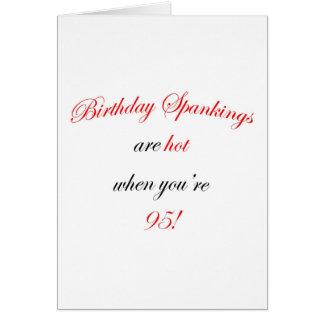 95 Birthday Spankings Card