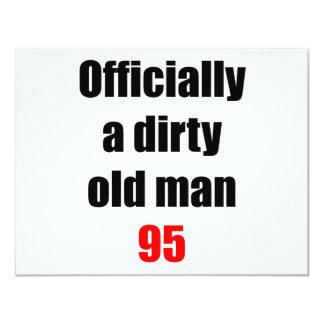 "95  Dirty Old Man 4.25"" X 5.5"" Invitation Card"