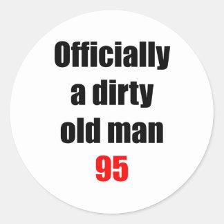 95  Dirty Old Man Round Sticker