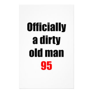 95  Dirty Old Man Stationery Design