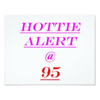 95 Hottie Alert Personalized Invitation