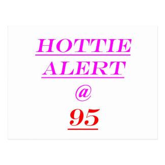 95 Hottie Alert Postcard