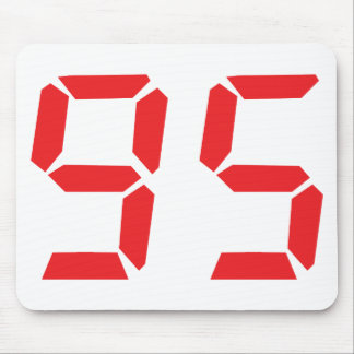 95 ninety-five red alarm clock digital number mouse pad