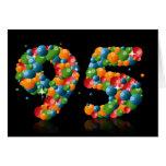 95.o cumpleaños con los números formados de bolas felicitacion