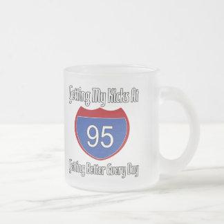 95.o cumpleaños de la ruta 66 taza de cristal