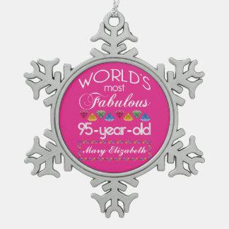 95 o Cumpleaños la mayoría del rosa colorido Adorno