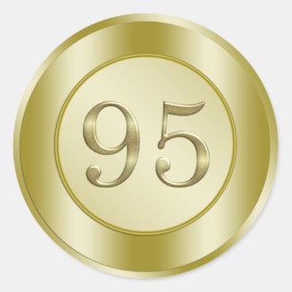 95 o Fiesta de cumpleaños Pegatina Redonda