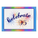 95.o Fuegos artificiales del cumpleaños Tarjeton