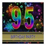 95.o Invitación de la fiesta de cumpleaños con las Invitación 13,3 Cm X 13,3cm