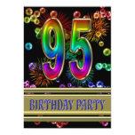 95.o Invitación de la fiesta de cumpleaños con las Invitación 12,7 X 17,8 Cm