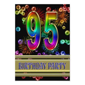 95.o Invitación de la fiesta de cumpleaños con las