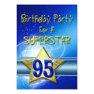 95.o Invitación de la fiesta de cumpleaños para un
