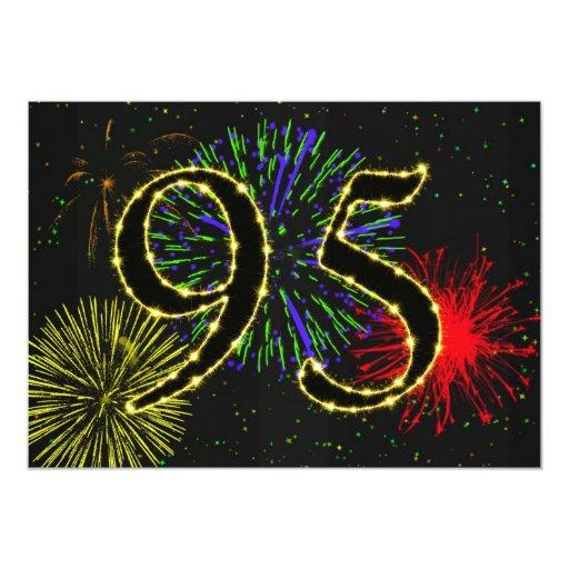 95.o invitate de la fiesta de cumpleaños invitación 12,7 x 17,8 cm