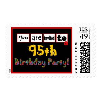 95.o Letras salvajes y coloridas del sello de la f