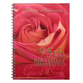 95.o libro de visitas de la celebración del libretas espirales