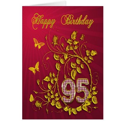 95.o Mariposas de oro del cumpleaños Felicitación