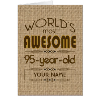 95.o Mundo de la celebración del cumpleaños mejor  Felicitacion
