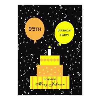 95.o Torta de la diversión 95.a de la invitación