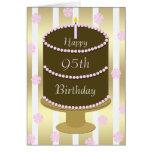 95.o Torta de la tarjeta de cumpleaños en rosa