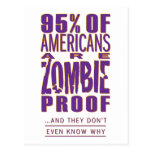 95% of Americans are Zombie Proof Postcards