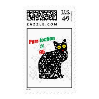 95 Snow Cat Purr-fection Postage