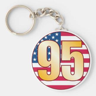 95 USA Gold Basic Round Button Keychain