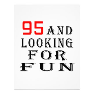 95 y buscar diseños del cumpleaños de la diversión plantilla de membrete