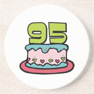 95 Year Old Birthday Cake Drink Coaster