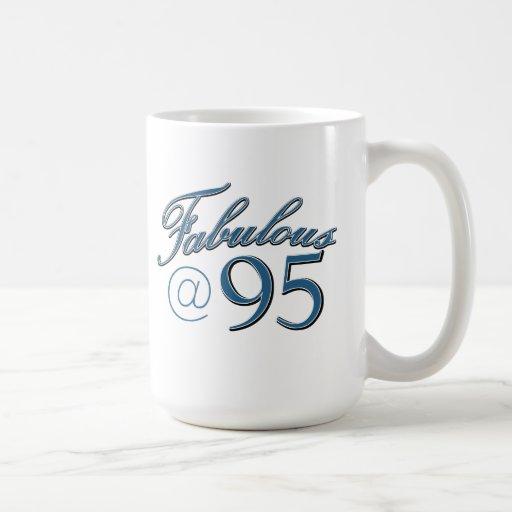 95  year old birthday designs mug