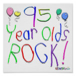 95 Year Olds Rock ! Poster