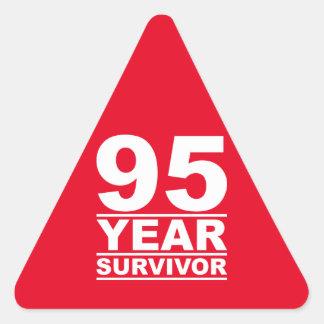 95 year survivor triangle sticker