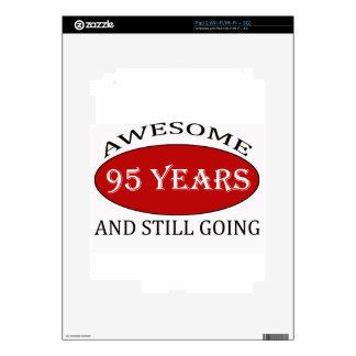 95 years old birthday designs iPad 2 skin