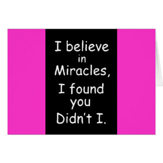 95bef believe miracles found you card