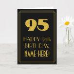 "[ Thumbnail: 95th Birthday – Art Deco Inspired Look ""95"" & Name Card ]"