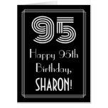 "[ Thumbnail: 95th Birthday — Art Deco Inspired Look ""95"" + Name Card ]"