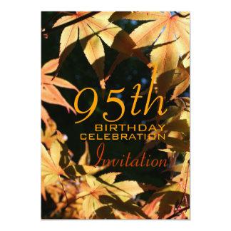 95th Birthday Celebration Autumn Custom Invitation