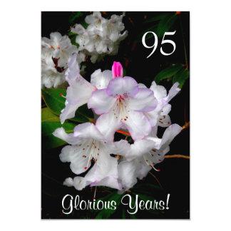 95th Birthday Celebration/Elegant Pink Azaleas Card