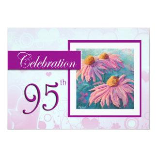 95th Birthday Celebration party invitation - Daisy