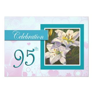 95th Birthday Celebration party invitation - Lily