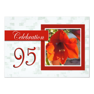 95th Birthday Celebration party invite - Amarylis