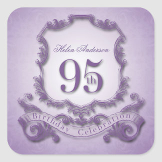 95th Birthday Celebration Personalized Stickers