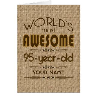 95th Birthday Celebration World Best Fabulous Greeting Card