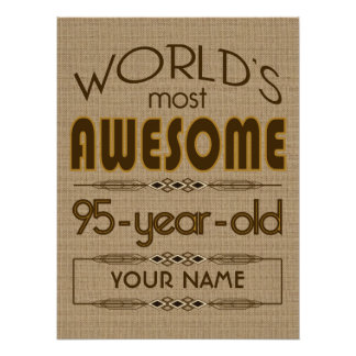 95th Birthday Celebration World Best Fabulous Poster