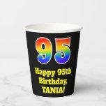 [ Thumbnail: 95th Birthday: Colorful, Fun, Exciting, Rainbow 95 ]