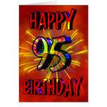 95th Birthday Fireworks Greeting Card