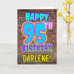 [ Thumbnail: 95th Birthday - Fun, Urban Graffiti Inspired Look Card ]